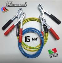 CAVI BATTERIA SCOOTER MOTO 16 mm² 120 A IN RAME PROFESSIONALI 3 METRI