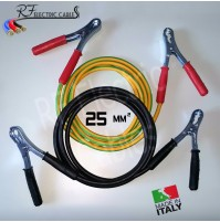 CAVI BATTERIA SCOOTER MOTO AUTO 25 mm² 120 A IN RAME PROFESSIONALI 3 METRI