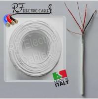 CAVO ALLARME 2x0.50+2x0.22 mm²  4 POLI IN RAME SCHERMATO ANTIFURTO 100 MT