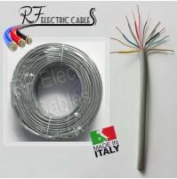 CAVO CITOFONICO 11 POLI IN RAME RIGIDO 5 COPPIE+TERRA CITOFONO 11x0.60 100 MT