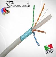 CAVO DI RETE FTP CAT 6 SCHERMATO IN RAME PROFESSIONALE 100 MT