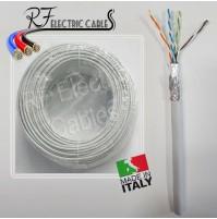 CAVO DI RETE S/FTP CAT 5 E  SCHERMATO CON TRECCIA IN RAME PROFESSIONALE 10 MT
