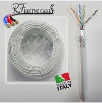 CAVO DI RETE S/FTP CAT 5 E  SCHERMATO CON TRECCIA IN RAME PROFESSIONALE 100 MT
