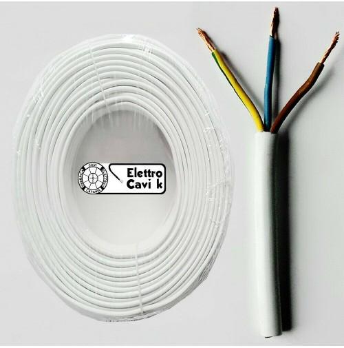CAVO ELETTRICO FR2OHH2R SCHERMATO 3X0,5 mm² MULTIPOLARE 3 POLI 50 METRI