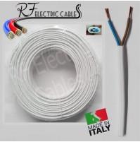 CAVO PIATTO GOMMATO BIANCO 2x0.75 mm² BIPOLARE 2 POLI ELETTRODOMESTICO 100 METRI