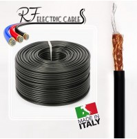 CAVO RG58 COASSIALE 50 OHM IN PURO RAME MADE IN ITALY 100 METRI