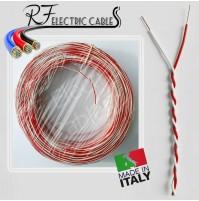 CAVO TELEFONICO DOPPINO TELECOM ADSL ROSSO BIANCO RAME 2 POLI 2x0,30 mm² 50 MT