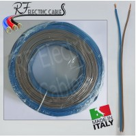 PIATTINA COSTA STRETTA BLU MARRONE CAVO LAMPADARI BAJOUR 2x0.50 mm² 100 METRI