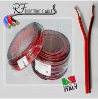 PIATTINA ROSSONERO ROSSONERA AUDIO CASSE HI FI IN RAME 2x0.50 mm² 10 MT BIPOLARE