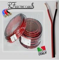 PIATTINA ROSSONERO ROSSONERA AUDIO CASSE HI FI IN RAME 2x2.5 mm² 100 MT BIPOLARE