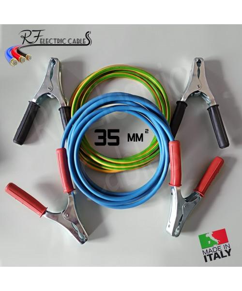 CAVI PER COLLEGAMENTO BATTERIA IN RAME PROFESSIONALI 35 mm² 3 METRI 200 A SCOOTER MOTO AUTO