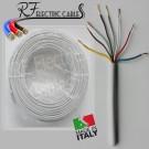 CAVO ELETTRICO MULTIPOLARE FROR CITOFONICO 8x0,50 mm²  8 POLI PERMUTATORE RICOPERTO 100 METRI