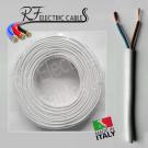 CAVO ELETTRICO GOMMATO BIANCO H05VV-F  2x1,5 mm² BIPOLARE 2 POLI FLESSIBILE 100 METRI