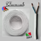CAVO ELETTRICO GOMMATO BIANCO H05VV-F  2x2,5 mm² BIPOLARE 2 POLI FLESSIBILE 100 METRI
