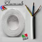 CAVO ELETTRICO GOMMATO BIANCO H05VV-F  3G1,5 mm² TRIPOLARE 3 POLI FLESSIBILE 100 METRI