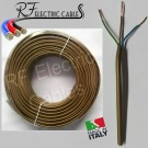 CAVO ELETTRICO GOMMATO BRONZO H05VV-F  3G0,50 mm²  TRIPOLARE 3POLI FLESSIBILE 100 METRI