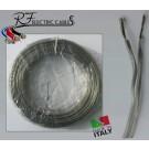 PIATTINA COSTA STRETTA ARGENTO IN RAME 2x0,50 mm² LAMPADARI BAJOUR AL METRO
