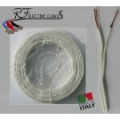 PIATTINA COSTA STRETTA BIANCA IN RAME 2x0,50 mm² LAMPADARI BAJOUR AL METRO