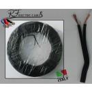 PIATTINA COSTA STRETTA NERA IN RAME 2x0,50 mm² LAMPADARI BAJOUR 100 METRI