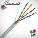 CAVO DI RETE FTP CAT 5 E SCHERMATO PROFESSIONALE IN RAME ETHERNET RJ45 100 METRI