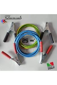 CAVI PER COLLEGAMENTO BATTERIA IN RAME PROFESSIONALI 25 mm² 3 METRI 200 A SCOOTER MOTO AUTO