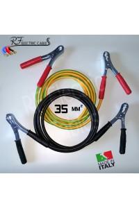 CAVI PER COLLEGAMENTO BATTERIA IN RAME PROFESSIONALI 35 mm² 3 METRI 120 A SCOOTER MOTO AUTO